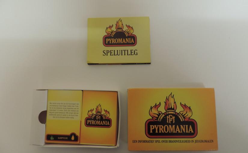 Pyromania. Een informatief spel over brandveiligheid in jeugdlokalen.