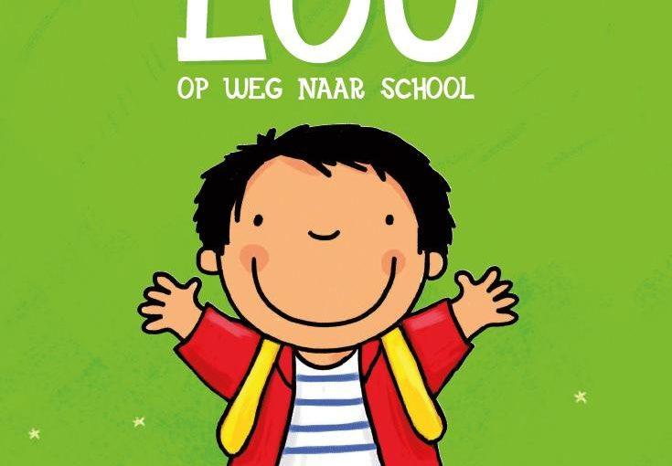 Lou op weg naar school